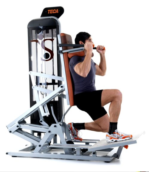 TECA SP180S Advanced hack squat gym tool